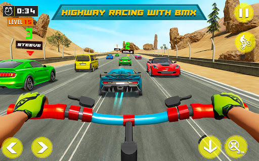 BMX Bicycle Rider - PvP Race: Cycle racing games 1.0.9 screenshots 2
