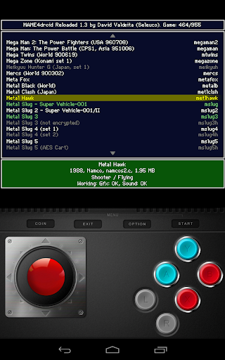 MAME4droid  (0.139u1) filehippodl screenshot 3