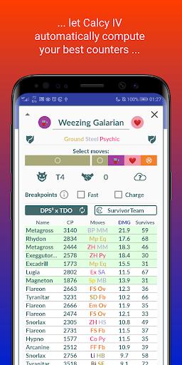 Calcy IV - Instant IV, PvP Ranks & Raid-Counter apktram screenshots 4