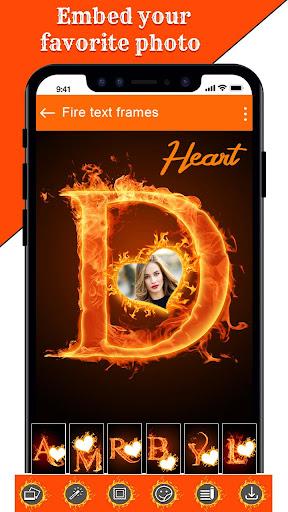 Fire Text Photo Frame u2013 New Fire Photo Editor 2020 1.43 Screenshots 16