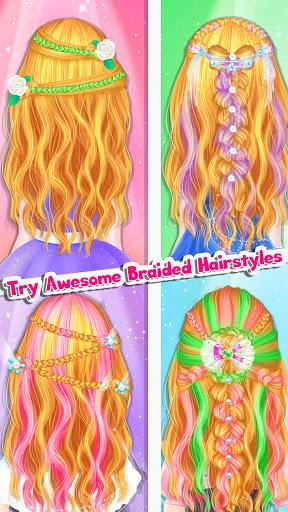 Braided Hairstyle Salon: Make Up And Dress Up  screenshots 4