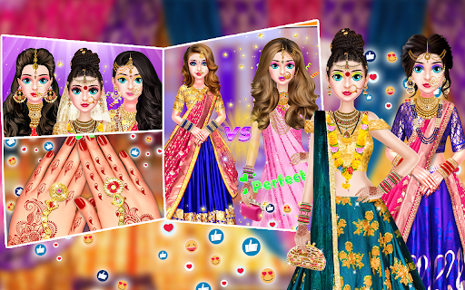 Indian Stylist Bride Dress up & Makeup Beauty Game screenshots 4