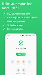 Super Status Bar - Gestures, Notifications & more