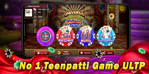 Universal Teen Patti - Indian Poker Game Latest screenshots 1