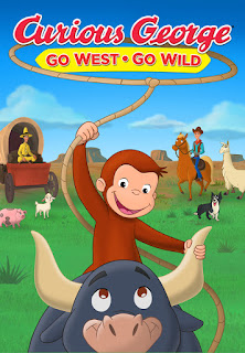 "alt=""Curious George is back in the saddle and ready for adventure in his exciting movie-Go West Go Wild. George and Ted travel to cousin Ginny's farm for a relaxing outdoor weekend, but plans take a turn when her farm animals escape into the wild blue yonder. With the help of Emmett, a friendly farmhand with cowboy dreams, the group sets out to track the herd through the countryside, camp outdoors, fish for their dinner, and stumble into a ghost town! Featuring a spirited new score and original songs, this unforgettable story proves that anything is possible when you believe in yourself.    CAST AND CREDITS  Actors Frank Welker, Jeff Bennett  Producers Deirdre Brenner  Director Michael LaBash  Writers Jana Howington, Sherri Stoner"""