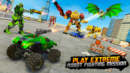 Monster Truck Robot Wars u2013 New Dragon Robot Game 1.0.7 screenshots 1