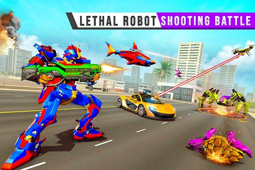 Real Shark Robot Car Game u2013 Police Truck Robot  screenshots 3