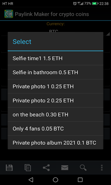 PayLink Maker for crypto currency coins screenshot 17