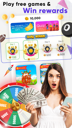 Real Cash Games : Win Big Prizes and Recharges apklade screenshots 1