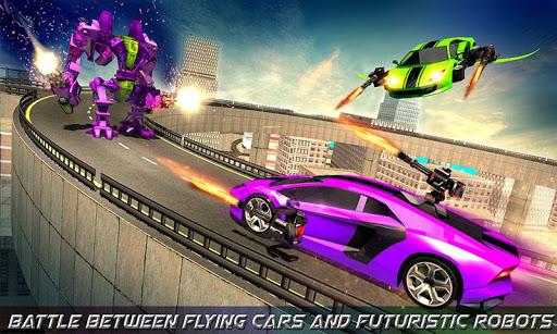 Flying Robot Car Games - Robot Shooting Games 2020 2.1 screenshots 5