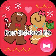 Cute Wallpaper Happy Gingerbread Men Theme
