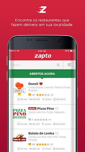 Zapto - Delivery de comida  screenshots 1