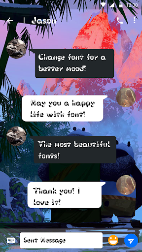 master pan font for flipfont ,cool fonts text free screenshot 2
