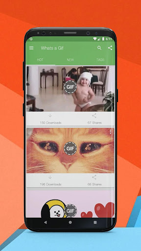 Whats a Gif - GIFS Sender(Saver,Downloader, Share) 2.2.15.0 Screenshots 1