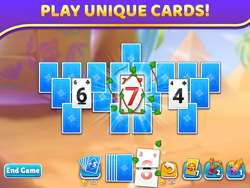 Puzzle Solitaire - Tripeaks Escape with Friends apkpoly screenshots 9