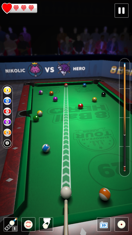 8 Ball Hero - Pool Billiards Puzzle Game  poster 1