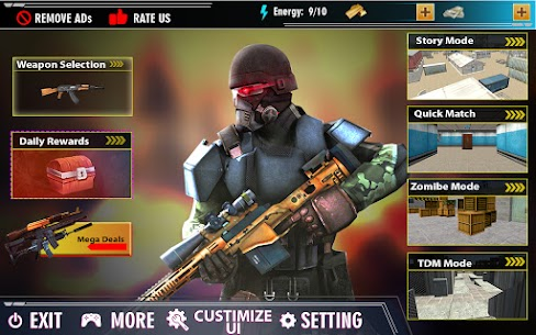 offline shooting game Mod Apk (Dumb Enemy) 3
