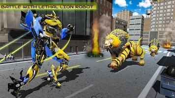 Elephant Robot Vs Lion Robot Transform War Games