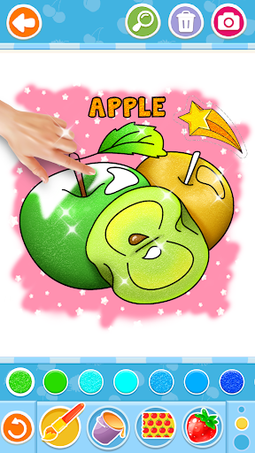 Fruits and Vegetables Coloring Game for Kids  screenshots 2