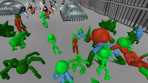 Stickman Prison Battle Simulator: Zombies screenshots 5
