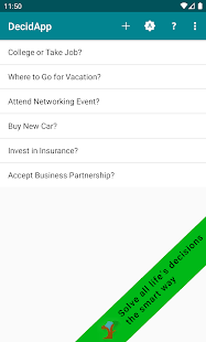 DecidApp - decision making Screenshot