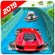 Water Car Racing Extreme Stunts Game