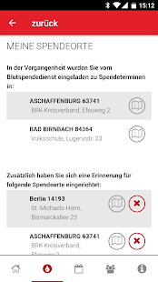 Blutspende - Der digitale Spenderservice Screenshot