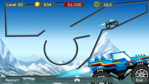 Monster Stunts -- monster truck stunt racing game apkslow screenshots 3
