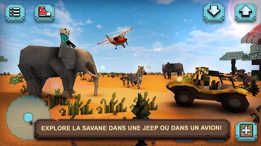 Télécharger Safari Savane : Animaux Carrés APK MOD (Astuce) screenshots 1