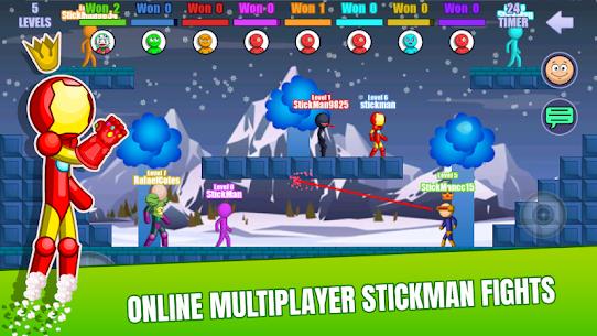 Stick Fight Online: Multiplayer Stickman Battle Mod Apk 2.0.36 (Unlimited Money) 1