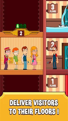 Hotel Elevator: Idle Fun Simulator Concierge mania apktram screenshots 7