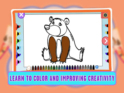 Animal Coloring Pages Games - Learn About Animals 1.4 screenshots 1