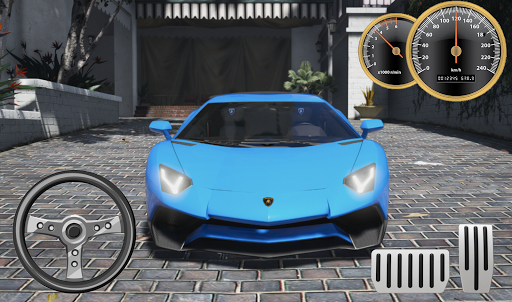 Driving Lamborghini Aventador City Racer screenshots 1