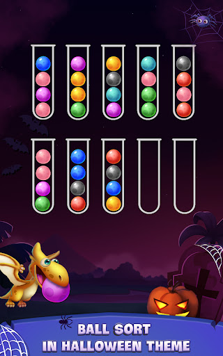 Color Ball Sort Puzzle - Dino Bubble Sorting Game  screenshots 4