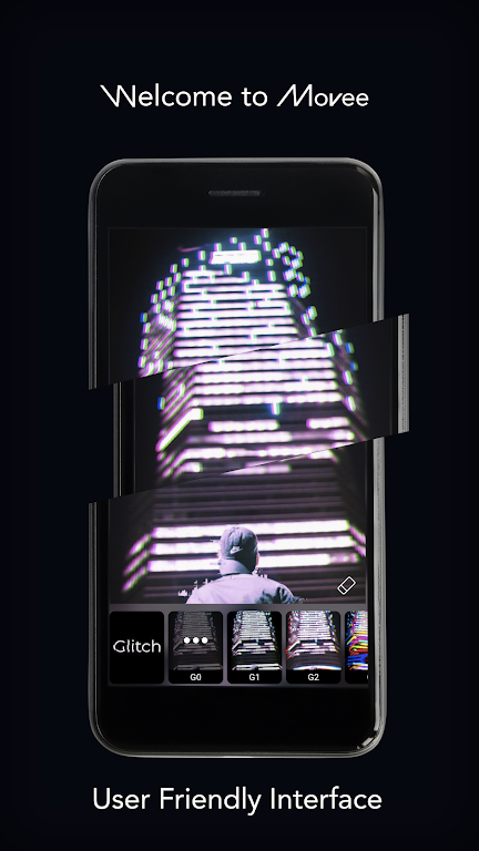 Movee: animate your photo with vhs glitch graphics  poster 0