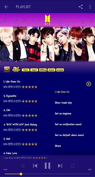 BTS Mp3 Offline (Life Goes On) screenshot 2
