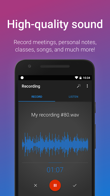 Easy Voice Recorder Pro  poster 1