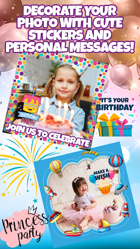 Birthday Party Invitation Card Maker with Photo 1.0 Screenshots 2