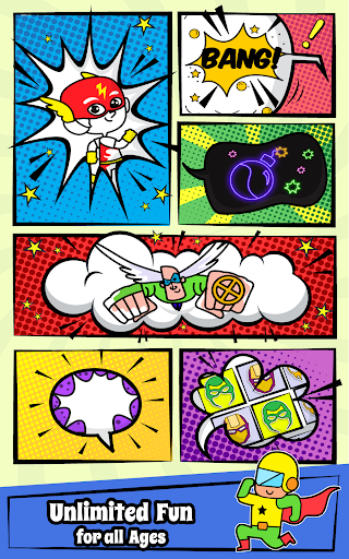 Superhero Coloring Book Game & Comics Drawing book  screenshots 10