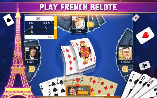VIP Belote - French Belote Online Multiplayer Apkfinish screenshots 17