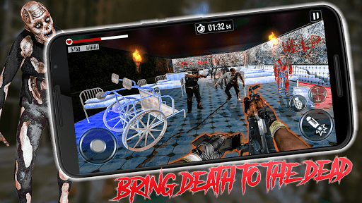 into the zombie dead land: zombie shooting games screenshot 1