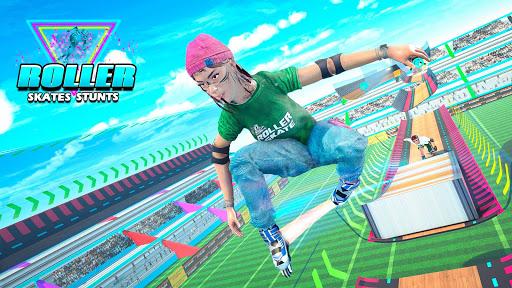 Sky Roller Skate Stunt Games 2021 - Roller Skating 2.1 screenshots 5