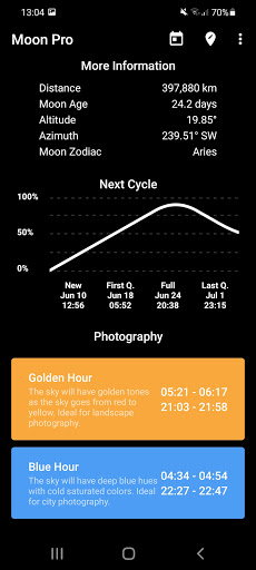 My Moon Phase - Lunar Calendar & Full Moon Phases 3.2.2 Screenshots 2