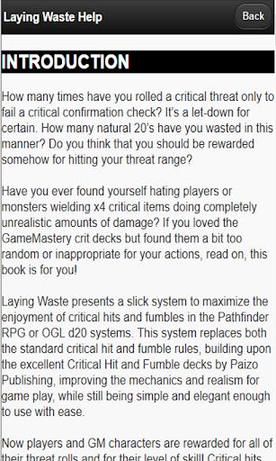 laying waste: critical hit game screenshot 3