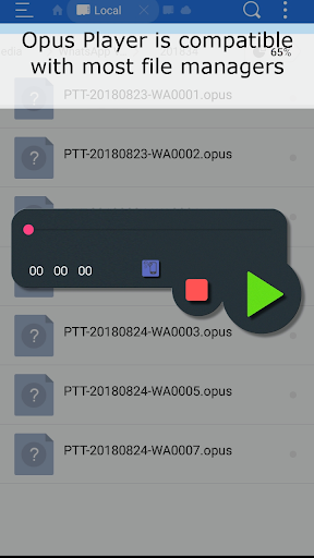 Opus Player - WhatsApp Audio Search and Organize android2mod screenshots 3