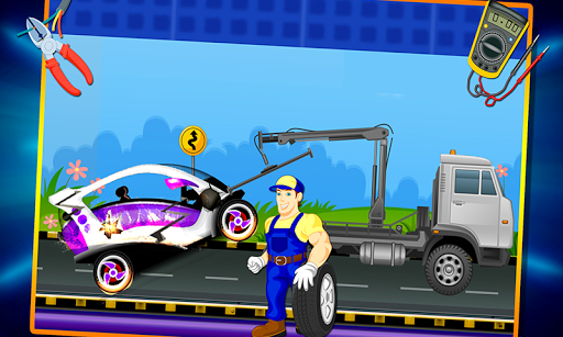 Electric Car Repairing - Auto Mechanic Workshop  screenshots 2