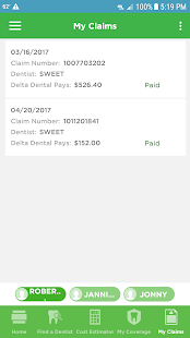 Delta Dental Screenshot