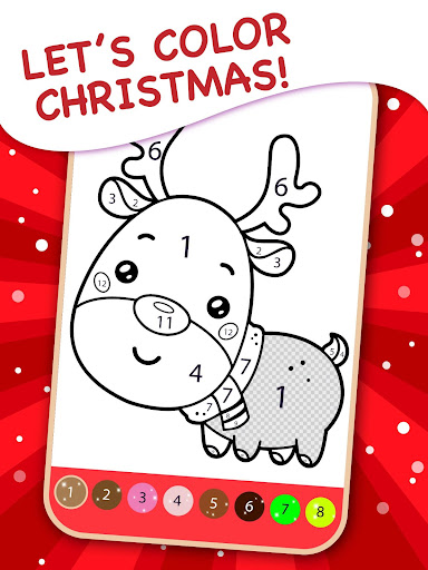 Christmas Coloring Book By Numbers 2.4 screenshots 9