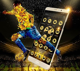 Golden Luxury Football Theme For Pc   Download And Install  (Windows 7, 8, 10 And Mac) 2