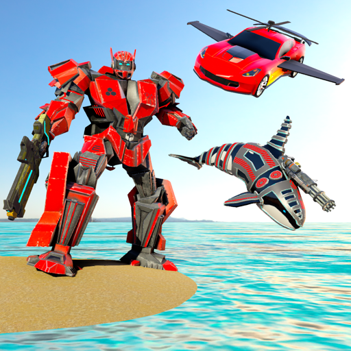 Orca whale attack : Flying car robot games